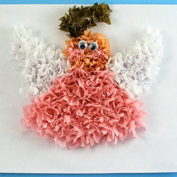 Puffy Tissue Paper Angel