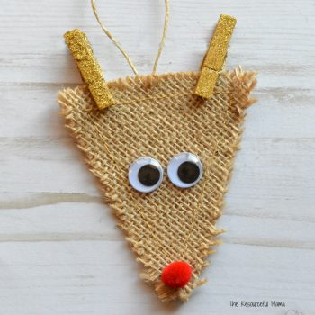 Kids will love making this reindeer ornament inspired Santa's favorite reindeer.