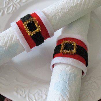 Santa's Belly Napkin Rings