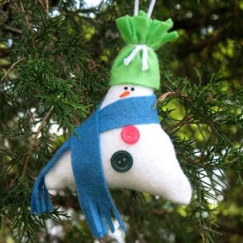 Stuffed Triangle Snowman