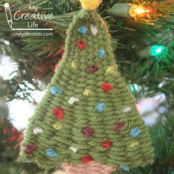 Woven Christmas Tree Ornament