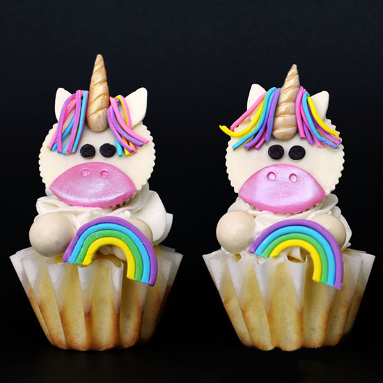 Magical Unicorn Cupcakes made using White Reese's Cups and candy clay make great birthday treats.