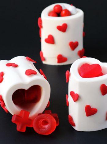 Chocolate Heart Cups
