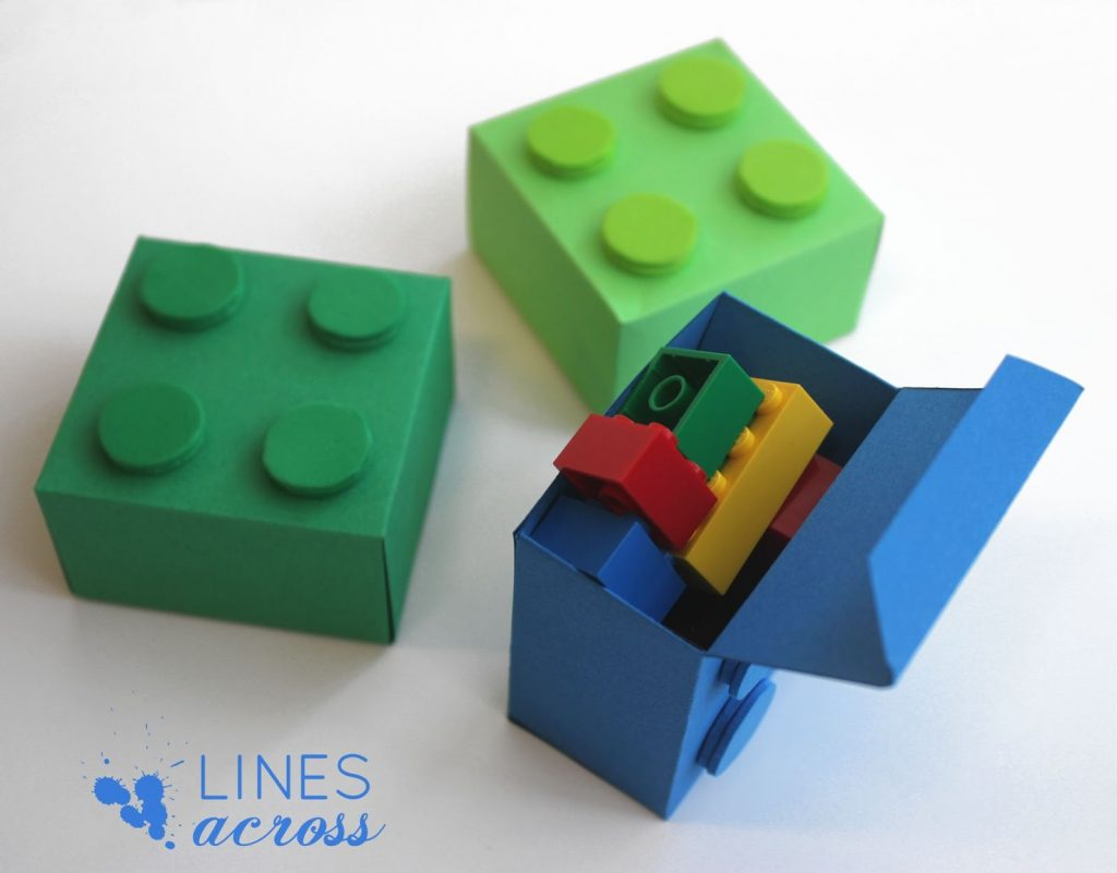 Small and large Lego gift boxes