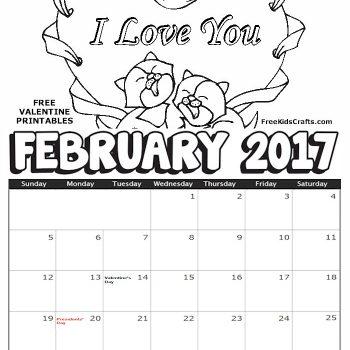 Printable Coloring Calendar 2017 Free : Calendar archives fun family crafts