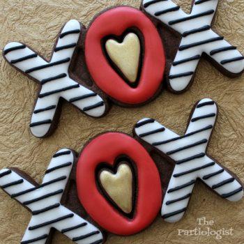 Valentine XOX Cookies
