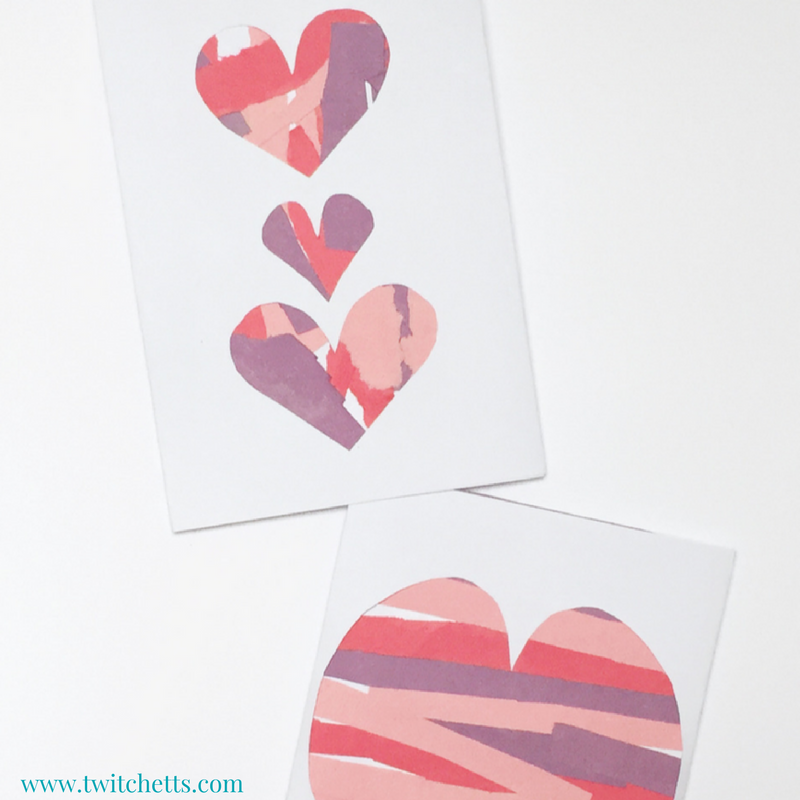 These scissor practice Valentines are fun construction paper crafts for kids of all ages! A great Valentine's Day craft for kids to create