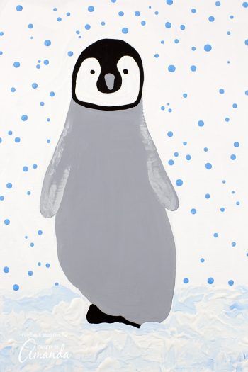 Just put your foot on paper and BAM! Adorable penguin!
