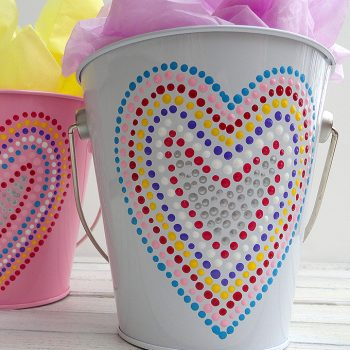 Heart Valentine Treat Buckets