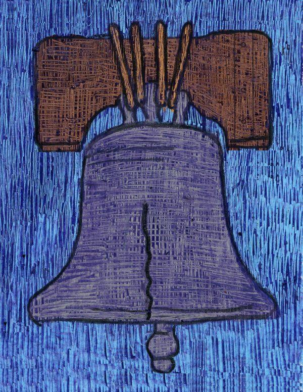 Liberty Bell scratch art