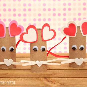 Cardboard Tube Valentine Mouse