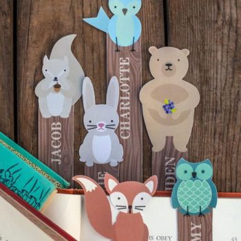 Printable Woodland Creatures Bookmarks