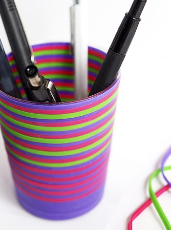 Rubber Band Pencil Holder