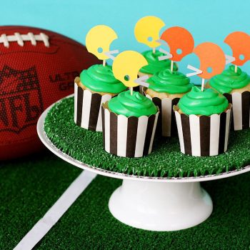 Football Helmet Cupcake Toppers
