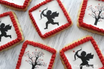Wafer Paper Valentine Cookies