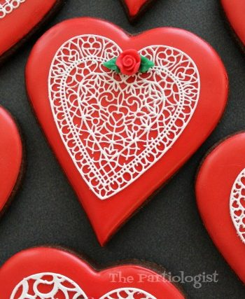 Lace Valentine Cookies