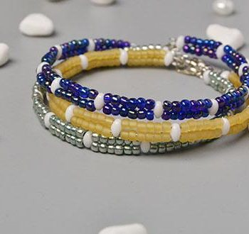 Simple Seed Bead Wrap Bracelet