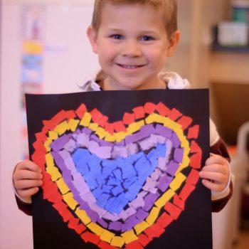 Torn Paper Heart Art