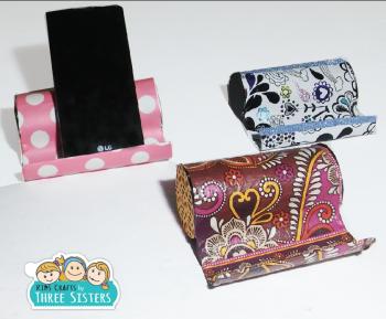 kids-crafts-three-sister-diy-phone-holder