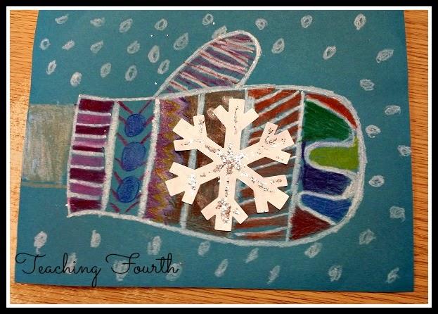 fun mitten art for winter