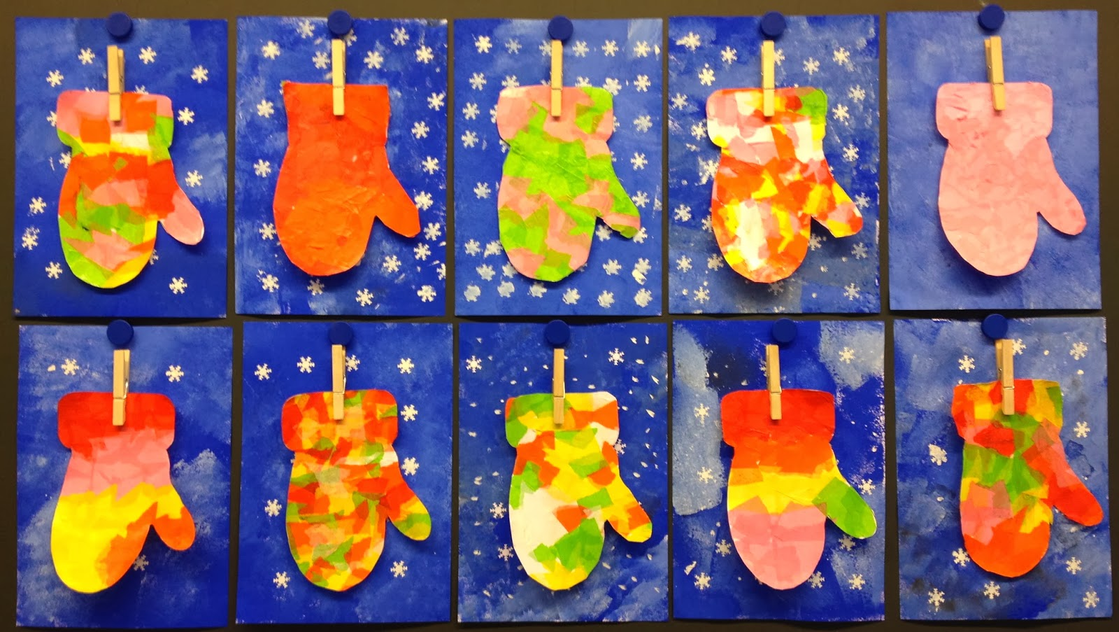 Winter mitten art fun family crafts - Kindergarten weihnachtsbasteln ...