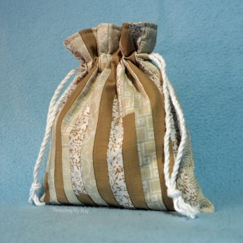 Small Lined Patchwork Drawstring Bag