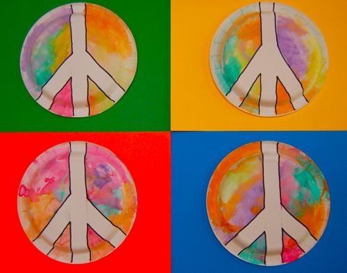 Toddler-friendly peace sign craft