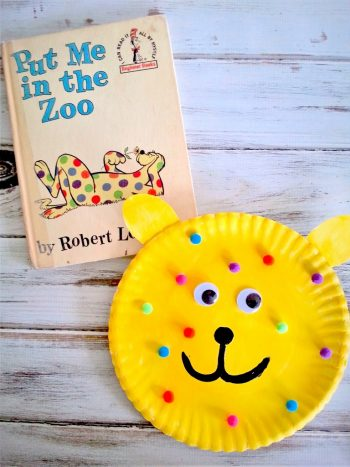 paper plate craft for 'Put Me in the Zoo'