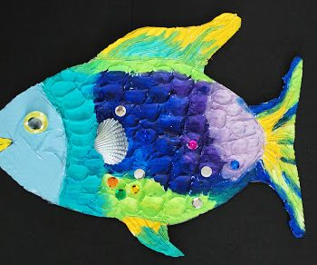 Mixed Media Rainbow Fish