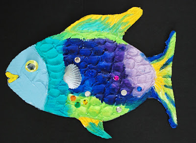 Mixed media Rainbow Fish