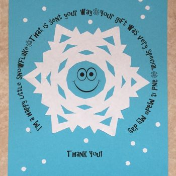 Printable Snowflake Thank You Note