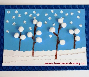 Snowy landscape craft for winter