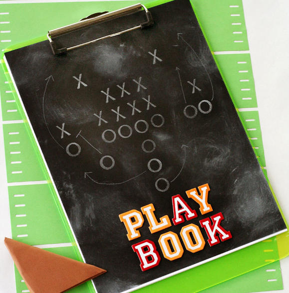 Decorate a clipboard as a playbook!