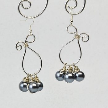 Wire-Wrapped Dangle Earrings