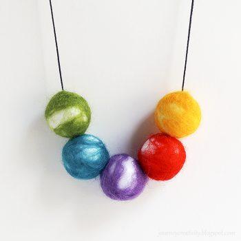 Felt Beads Necklace