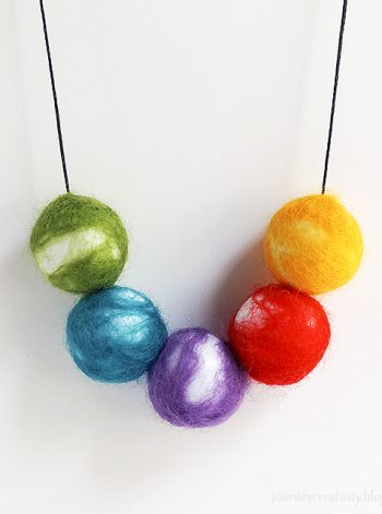 Felt Beads Necklace