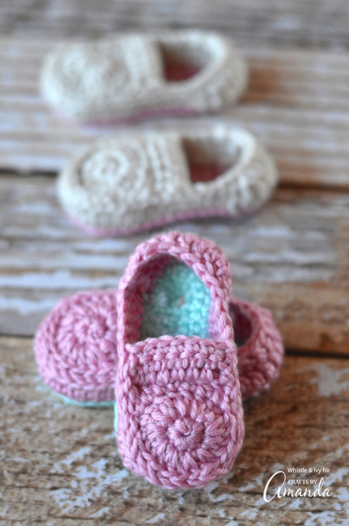 Crochet Baby Loafers Pattern Free : Crochet Baby Loafers Fun Family Crafts