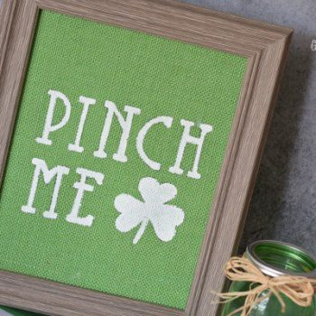 DIY Burlap Wall Art: Easy St. Patrick's Day Decor
