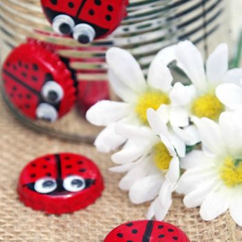 Bottle Cap Magnet Ladybugs