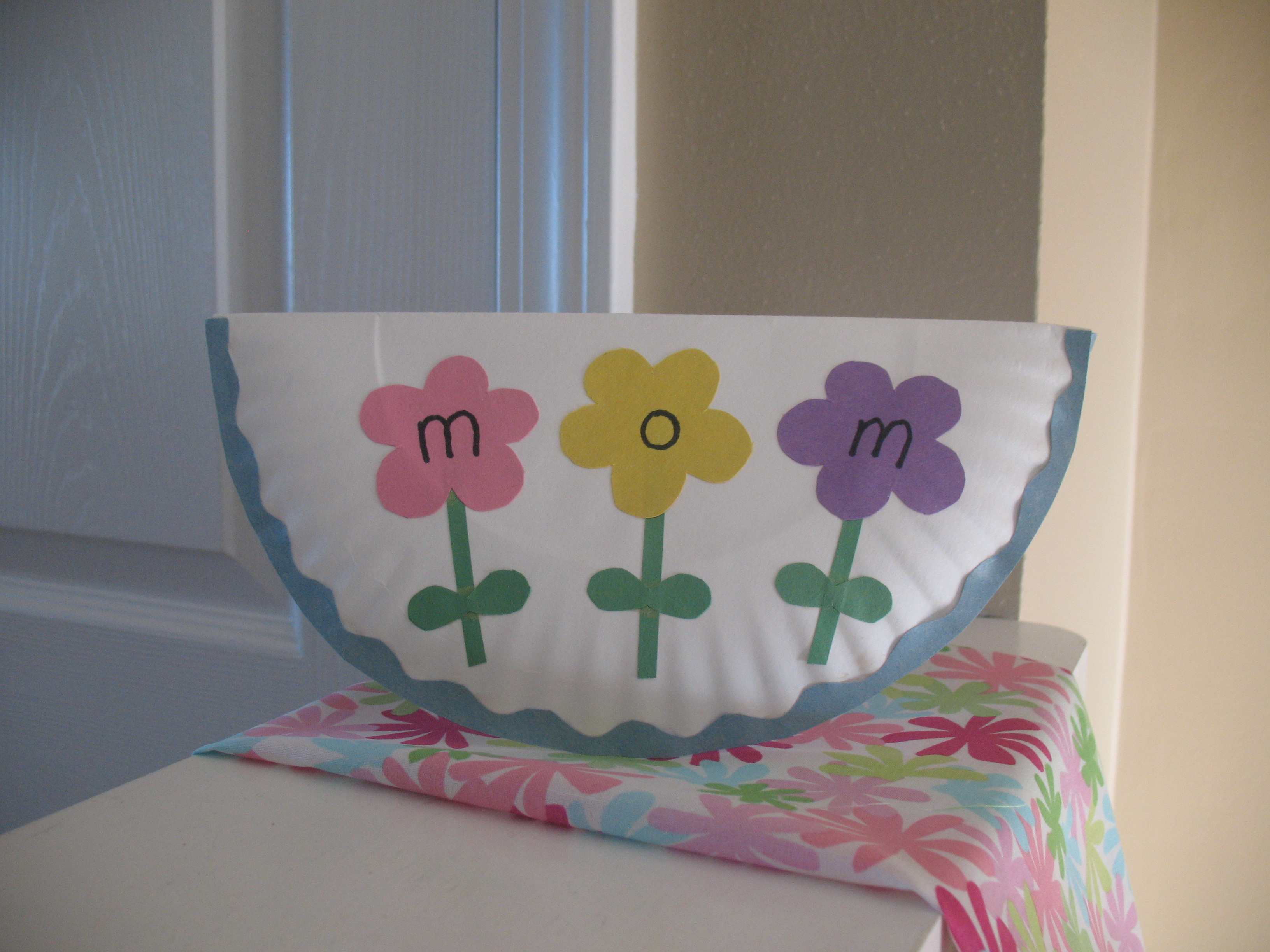 paper plate mother u0026 39 s day card