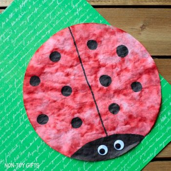Coffee Filter Ladybug Craft