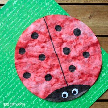 Coffee Filter Ladybug Craft