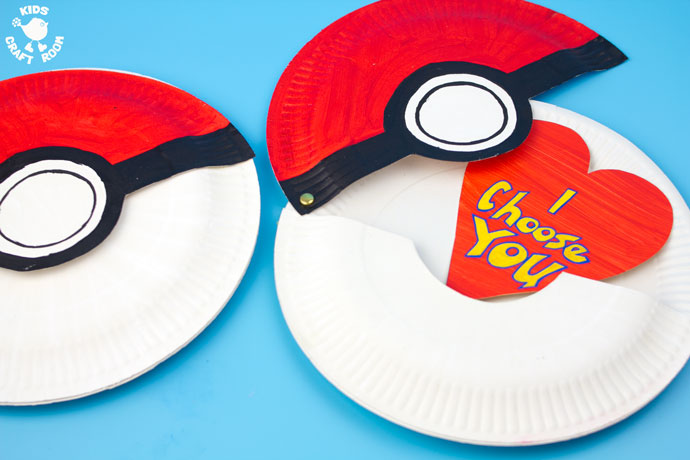 hinged pokeball valentine fun family crafts