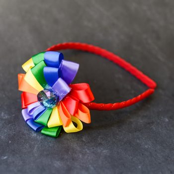 Rainbow Ribbon Headband