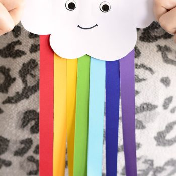 Smiling Cloud with Rainbow