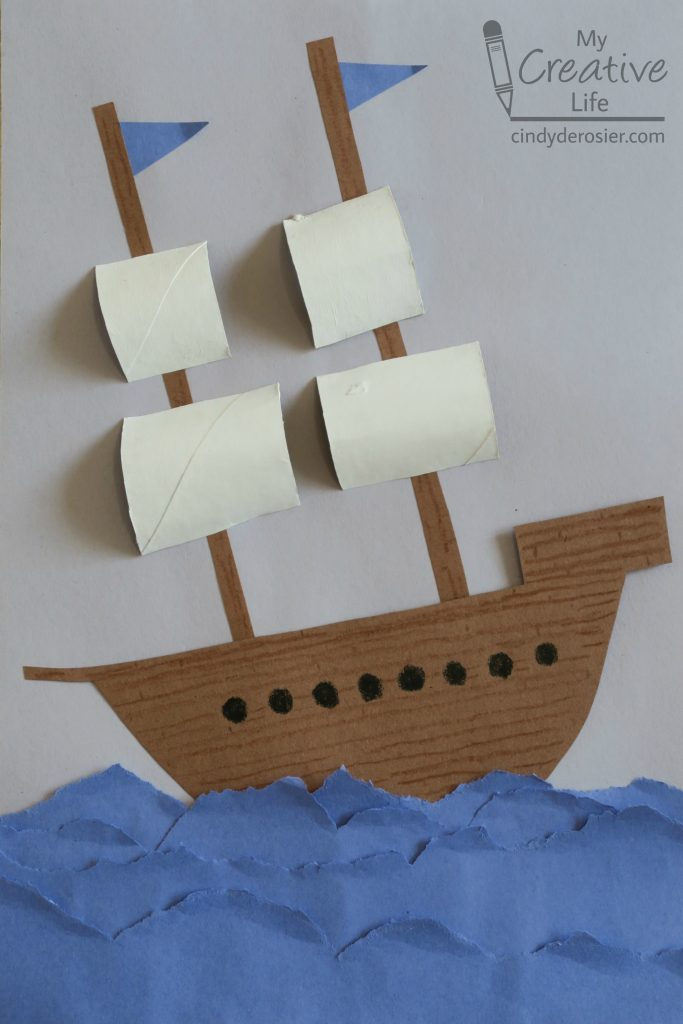 mayflower craft ideas construction paper explorer ship family crafts 2399