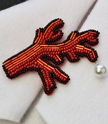 Embroidered Coral Design