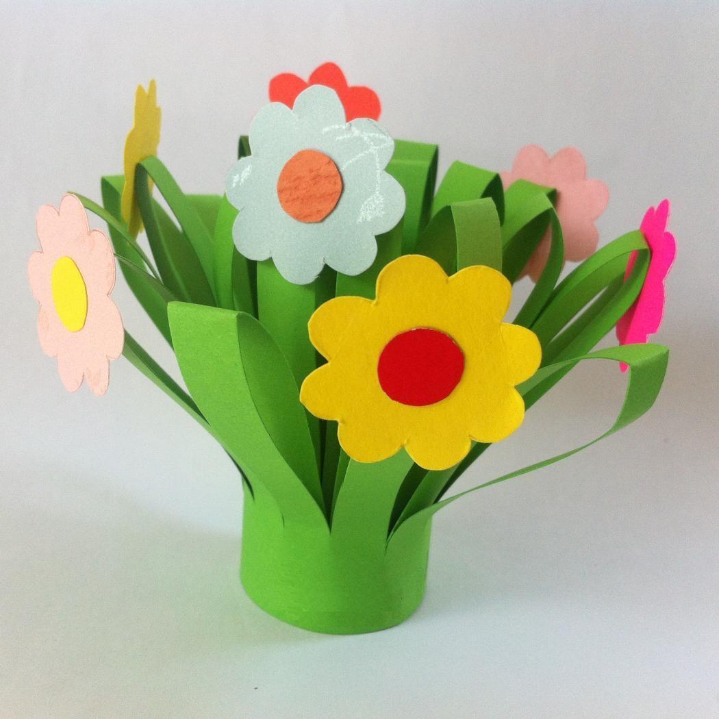 paper flower bouquet  fun family crafts