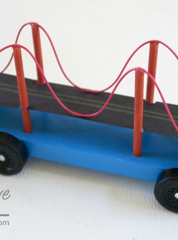 Golden Gate Bridge Pinewood Derby Car