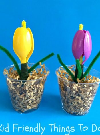 Plastic Spoon Flowers